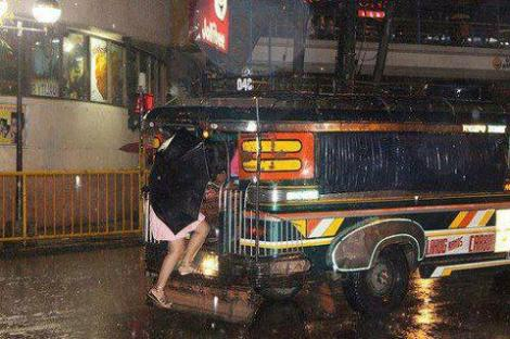 jeepney at night