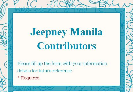Jeepney Manila Contributors