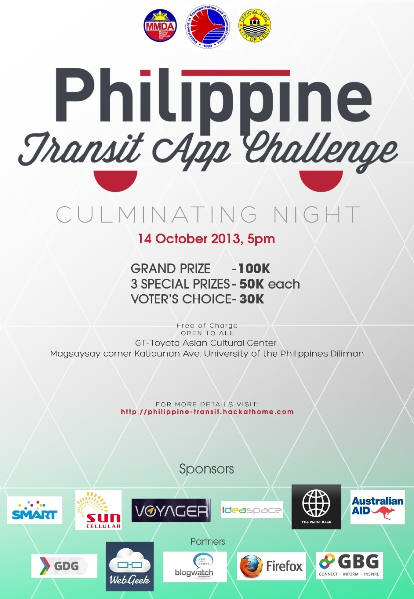 Philippine Transit App Challenge Culminating Night