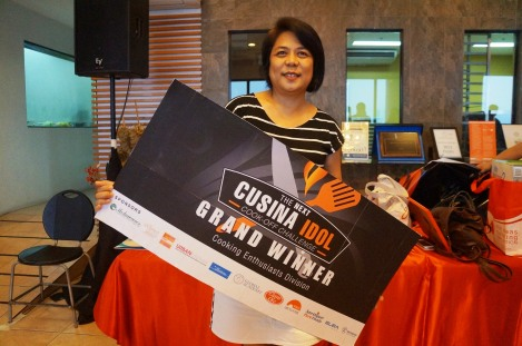 Cucina Idol Grand Winner Culinary Enthusiasts Division Mercedita Madrona