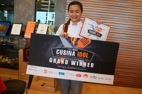 Cucina Idol Grand Winner Culinary Students Division Kimberly Jane Solejon